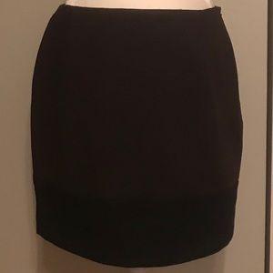 Brown and black color block hem mini.
